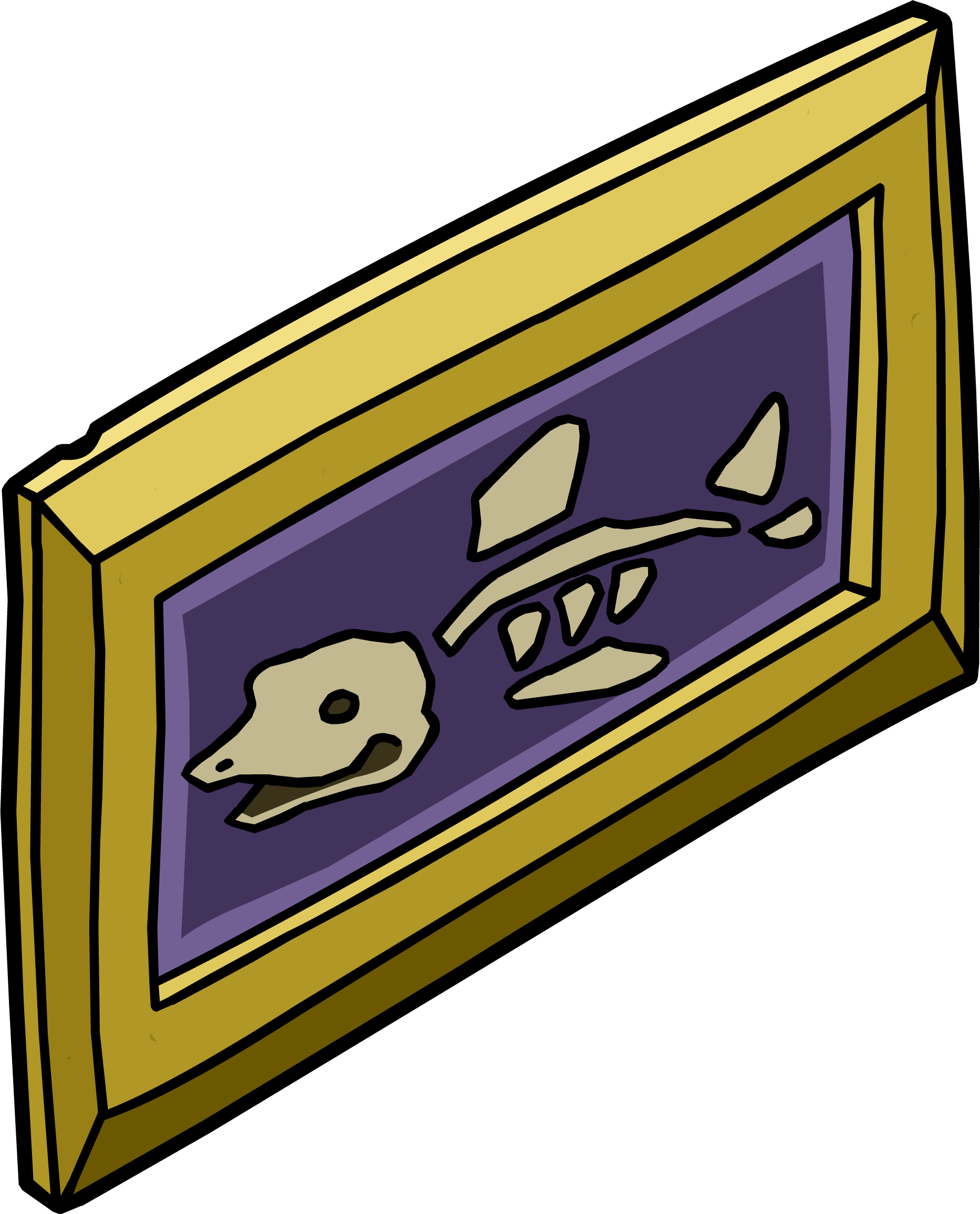 Club penguin wiki fandom. Fossil clipart fish png royalty free library