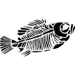 Skeleton best and art. Fossil clipart fish jpg black and white library