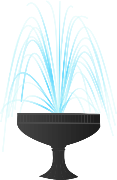Fountain clipart water drop. Transparent png stickpng