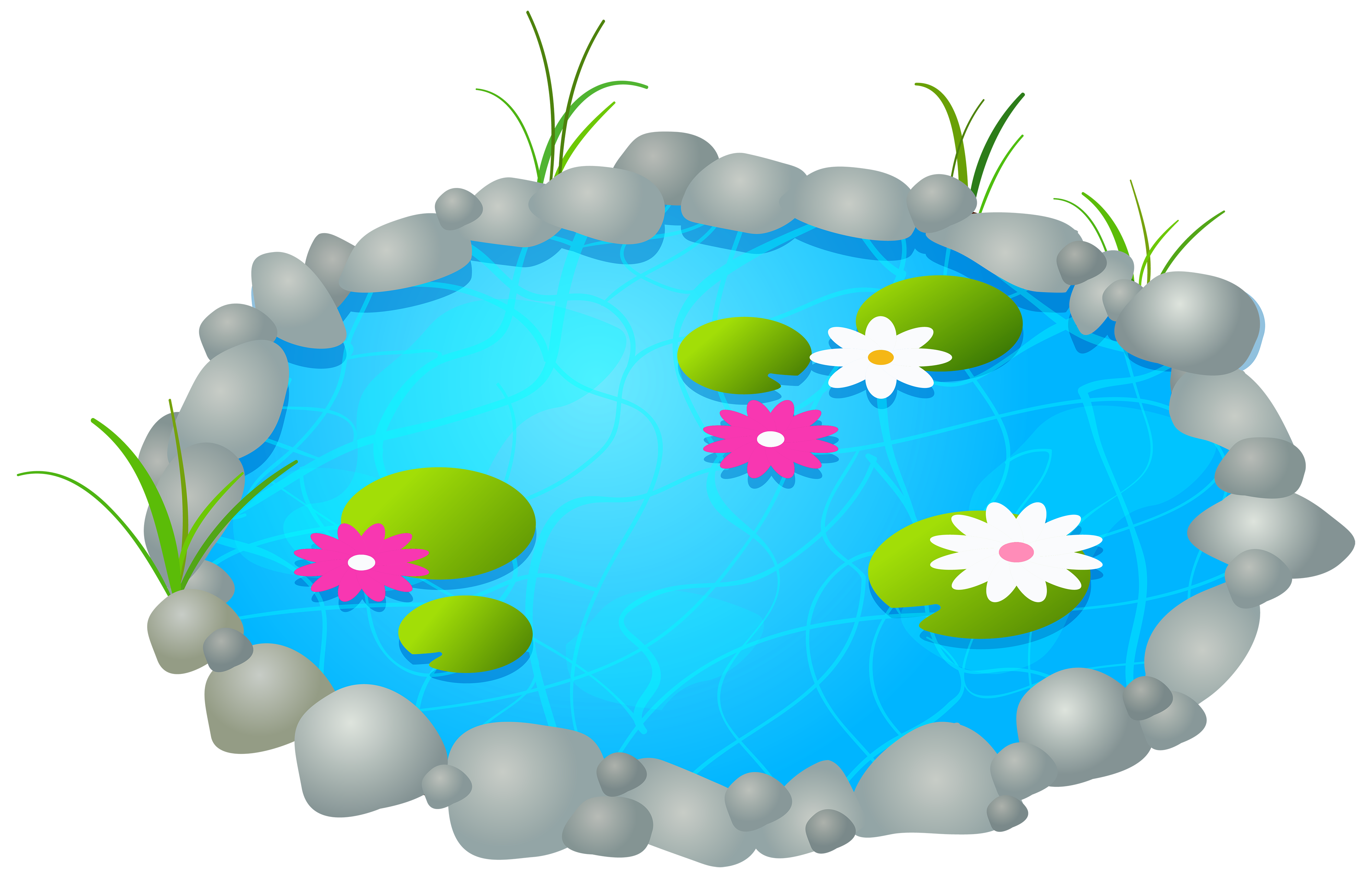 Fountain clipart top view. Garden pond png best