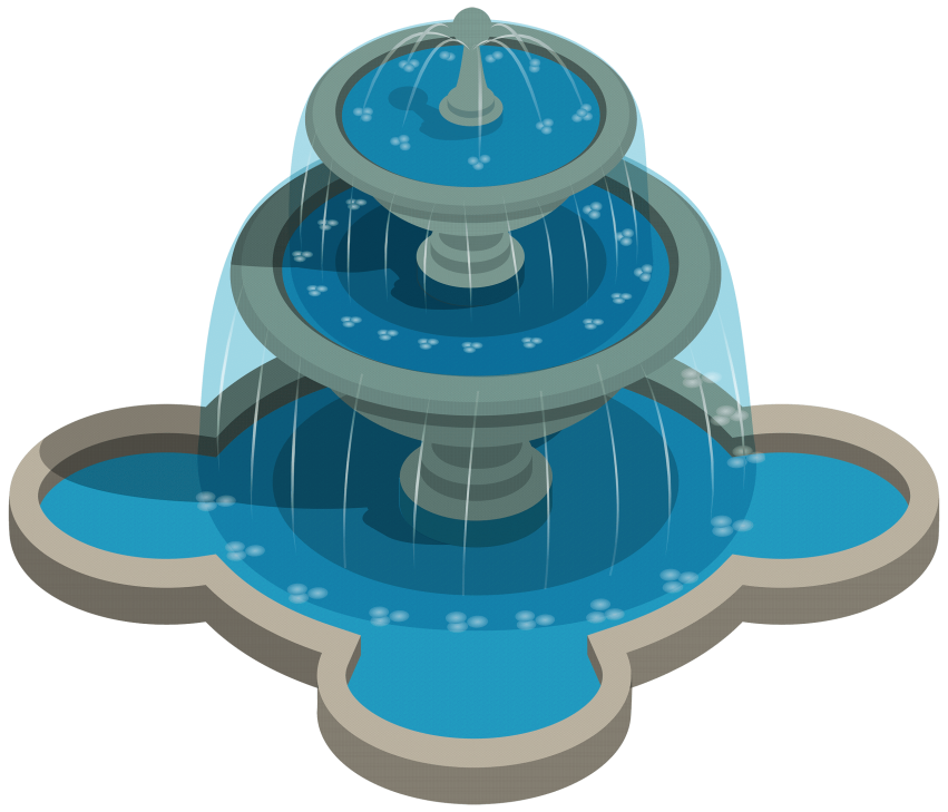Fountain clipart water drop. Download png photo toppng