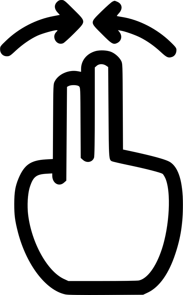 Four clip pinch. In svg png icon