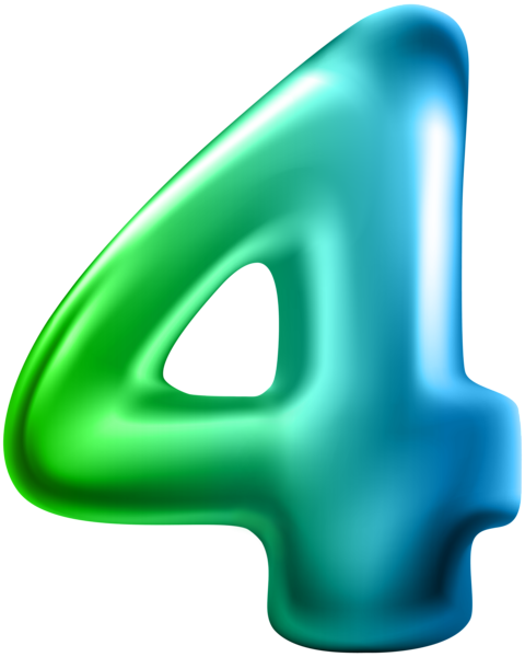Four clip plastic. Number transparent png art