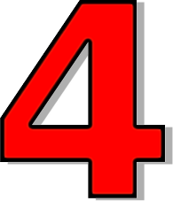 Four clipart. Number