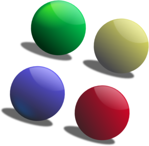 Four clipart 4 ball. Free color glass balls