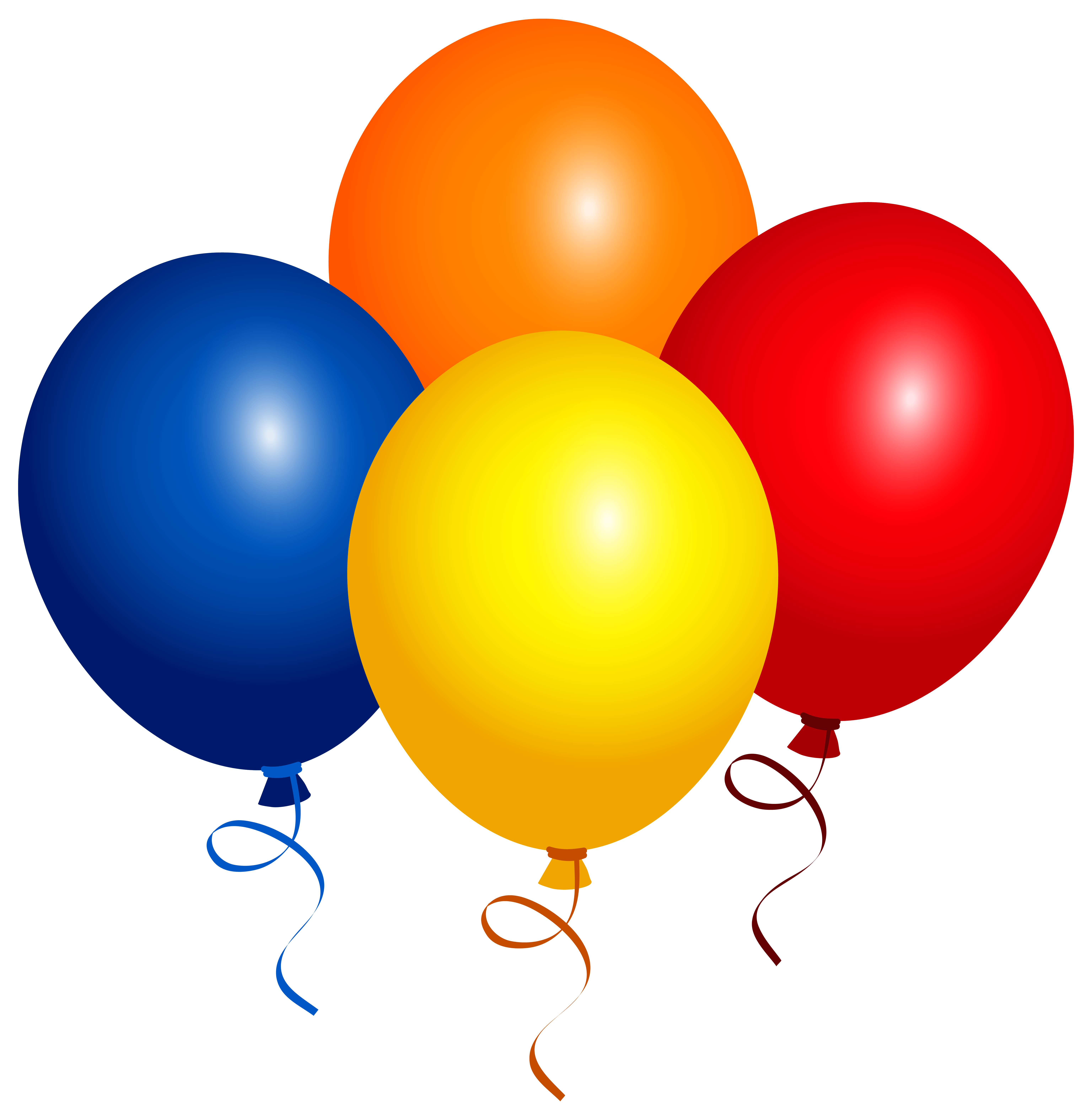 Four clipart birthday baloon. Balloons png image gallery