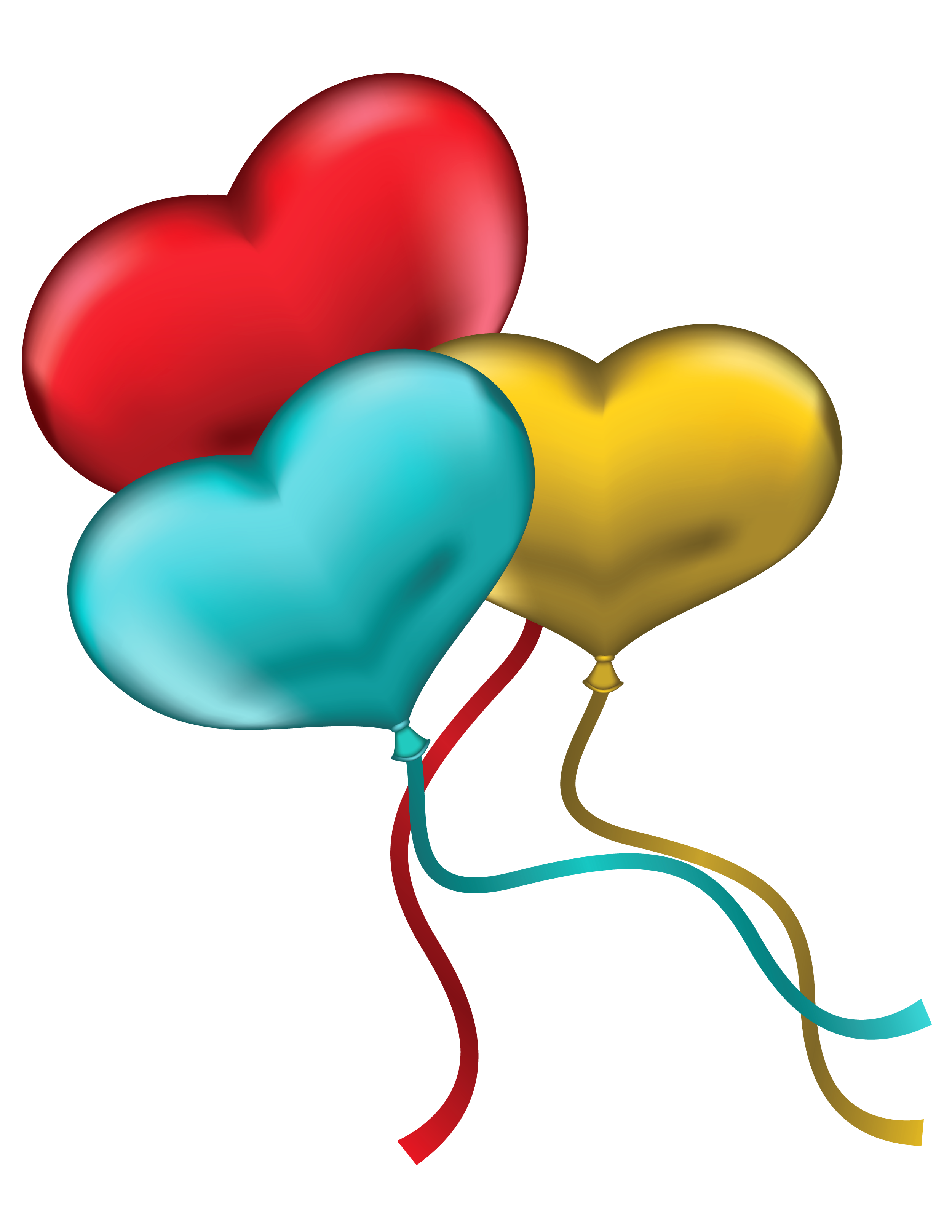 Red yellow and blue. Four clipart birthday baloon jpg download