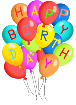 Four clipart birthday baloon. Clip art and free