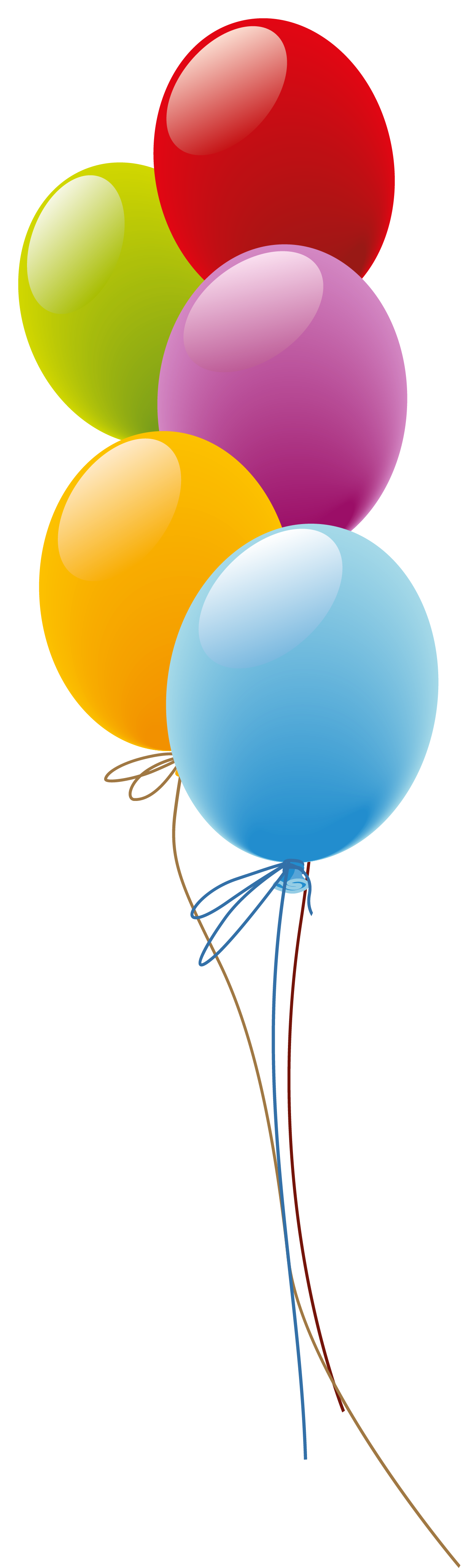 Balloons png picture artistic. Four clipart birthday baloon graphic transparent