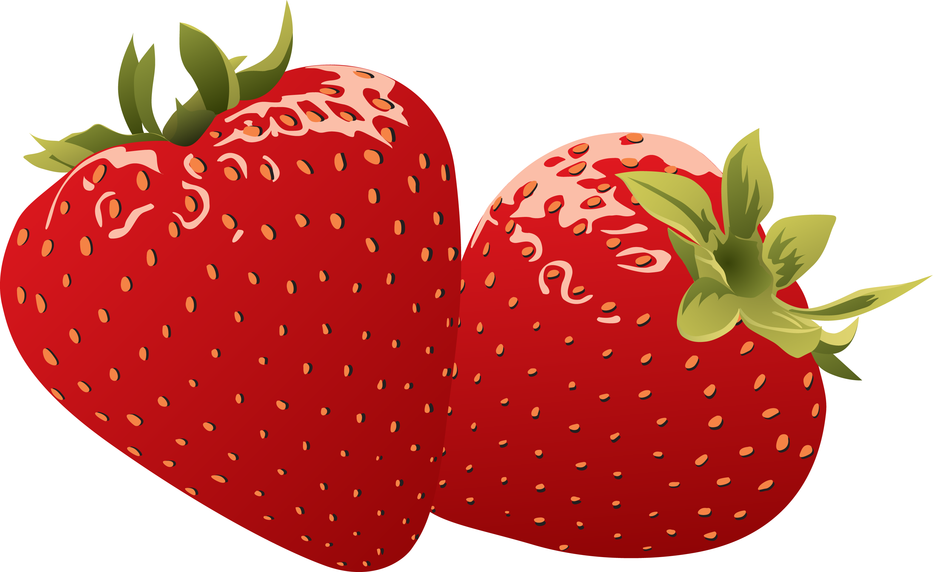 strawberries clipart round fruit