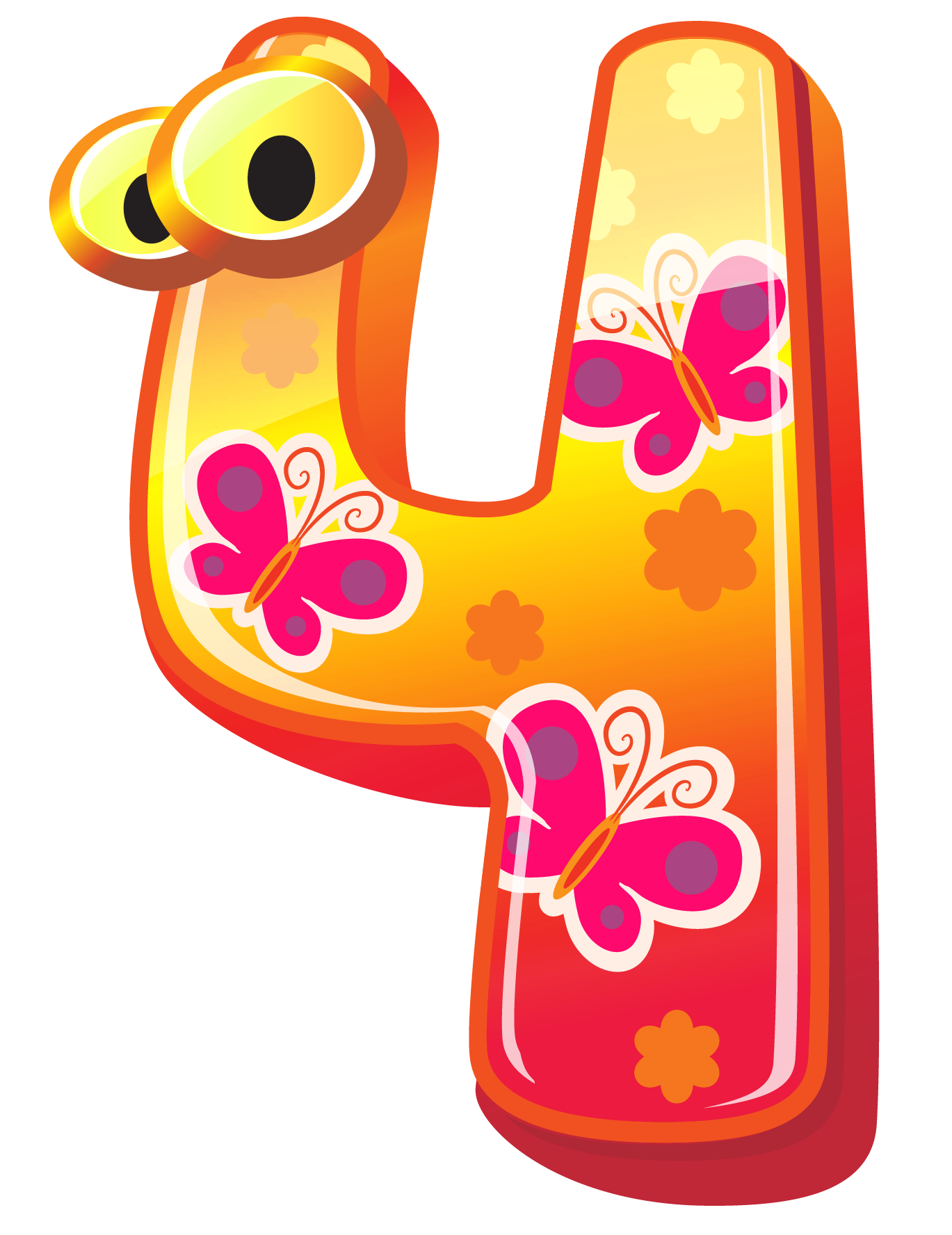 Cute number png image. Four clipart freeuse stock
