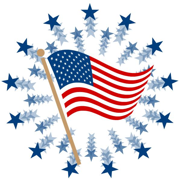 America clipart forth. Th of july