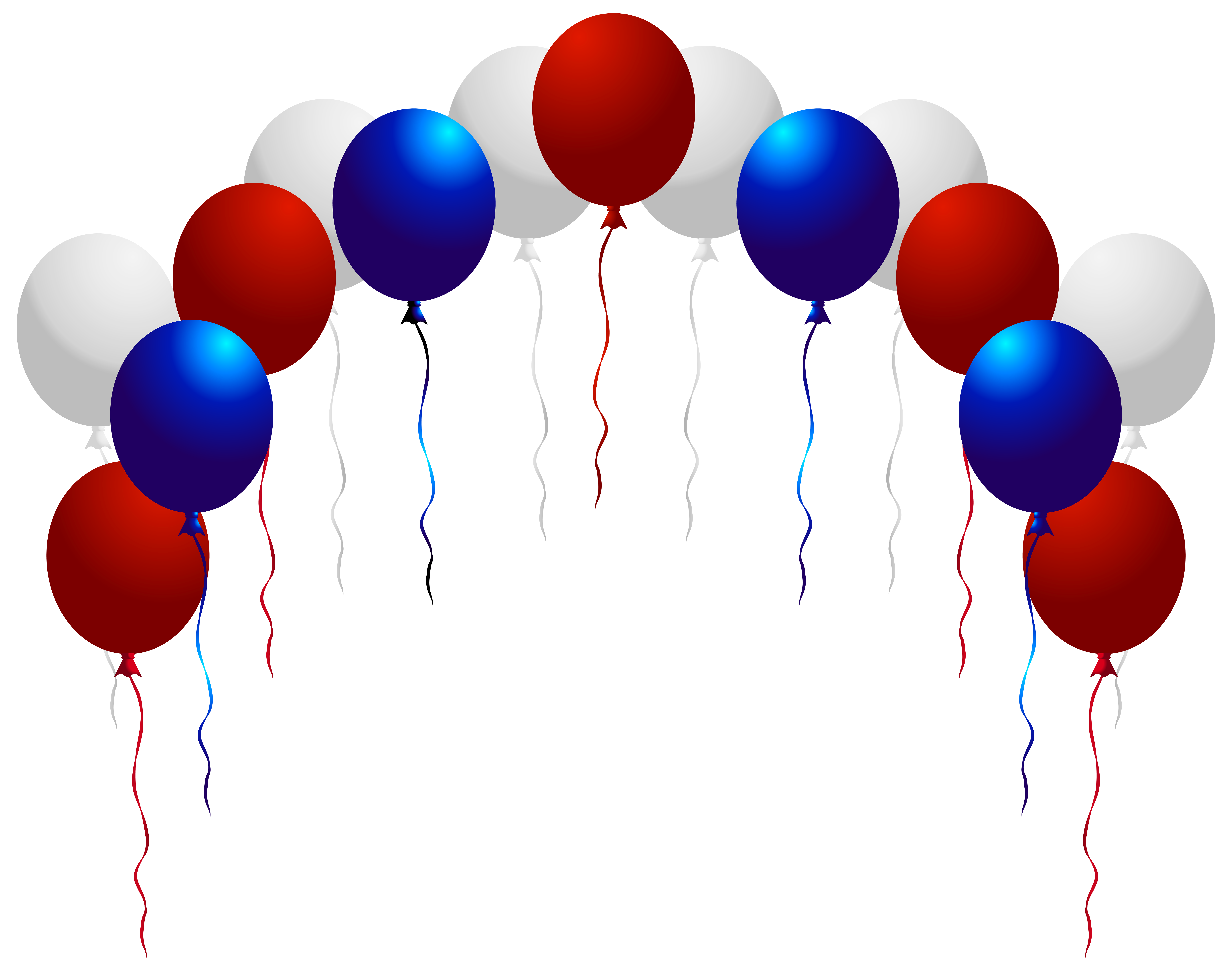 Fourth of clipart balloons. Usa png clip art