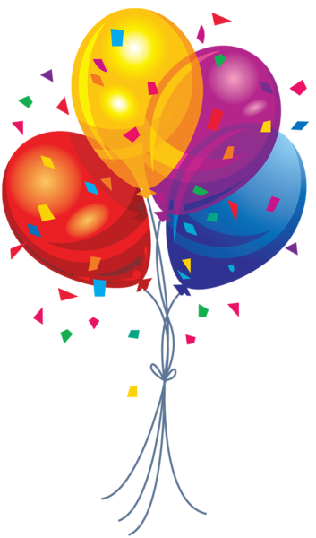 Fourth of clipart balloons. Transparent multi color pinterest