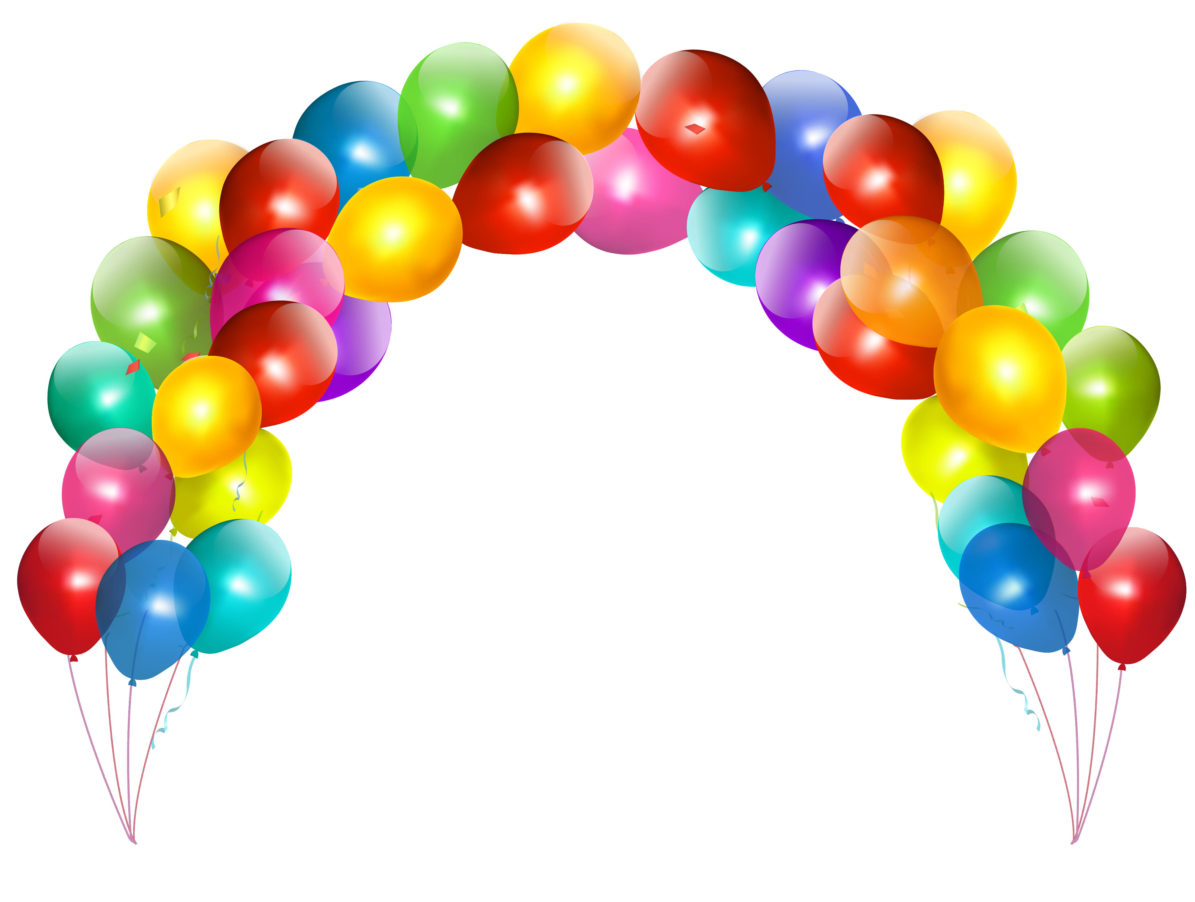 Happy birthday banner background png. Balloon arch clipart all