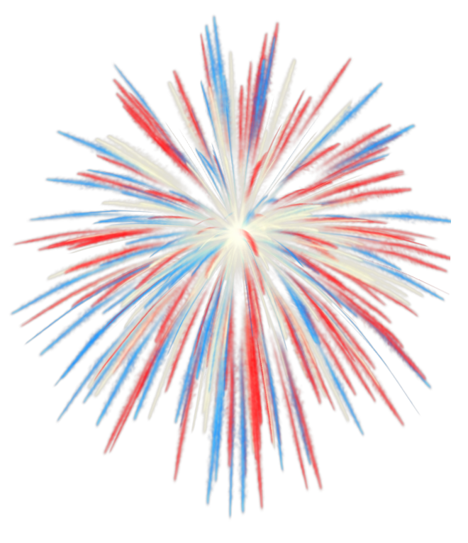 Fourth of clipart fireworks. Th july transparent