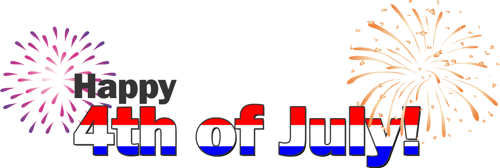 Fourth of july banner png. Happy th