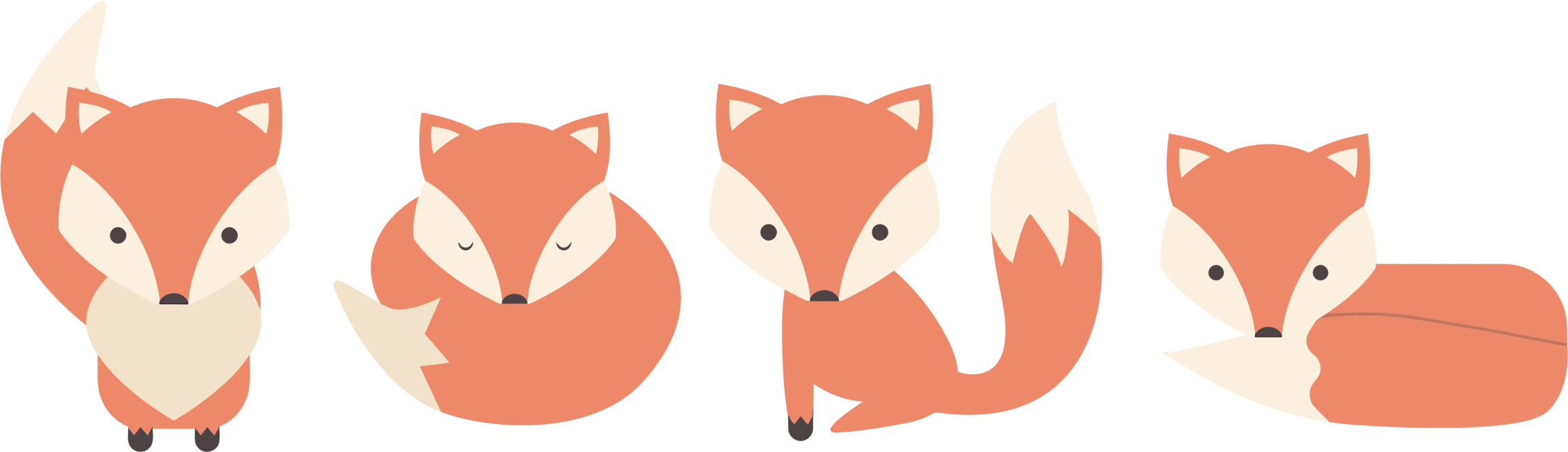 Fox cartoon png. Clipart poses big image