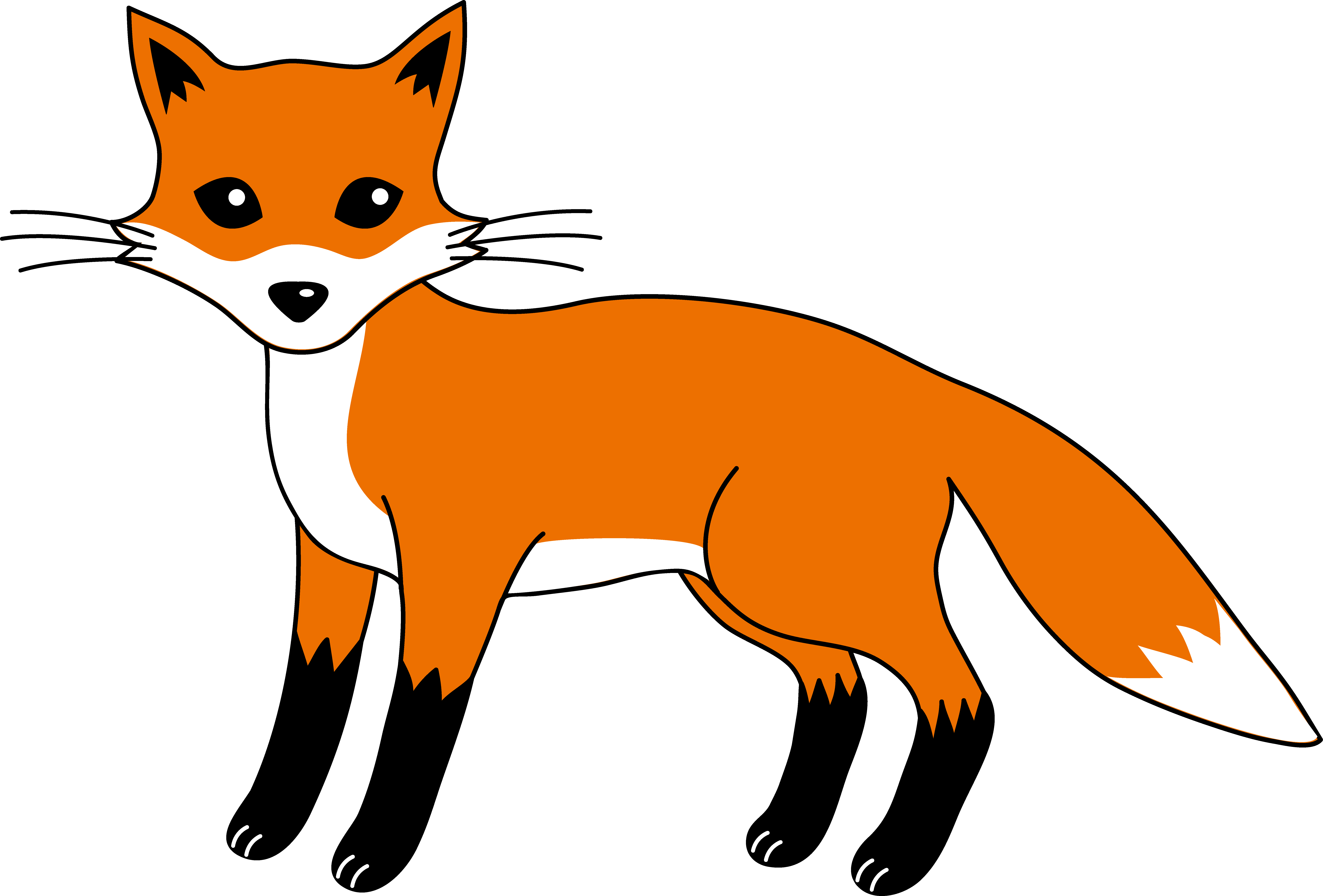 Fox cartoon png. Free clipart