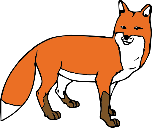 Fox cartoon png.
