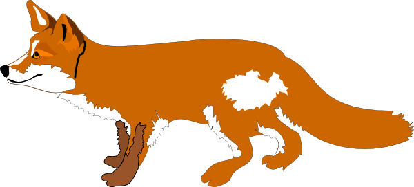 Fox cartoon png. Orange clipart