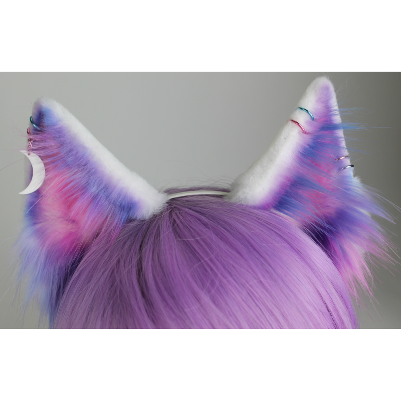 Space with piercings kitten. Fox ears png graphic freeuse library
