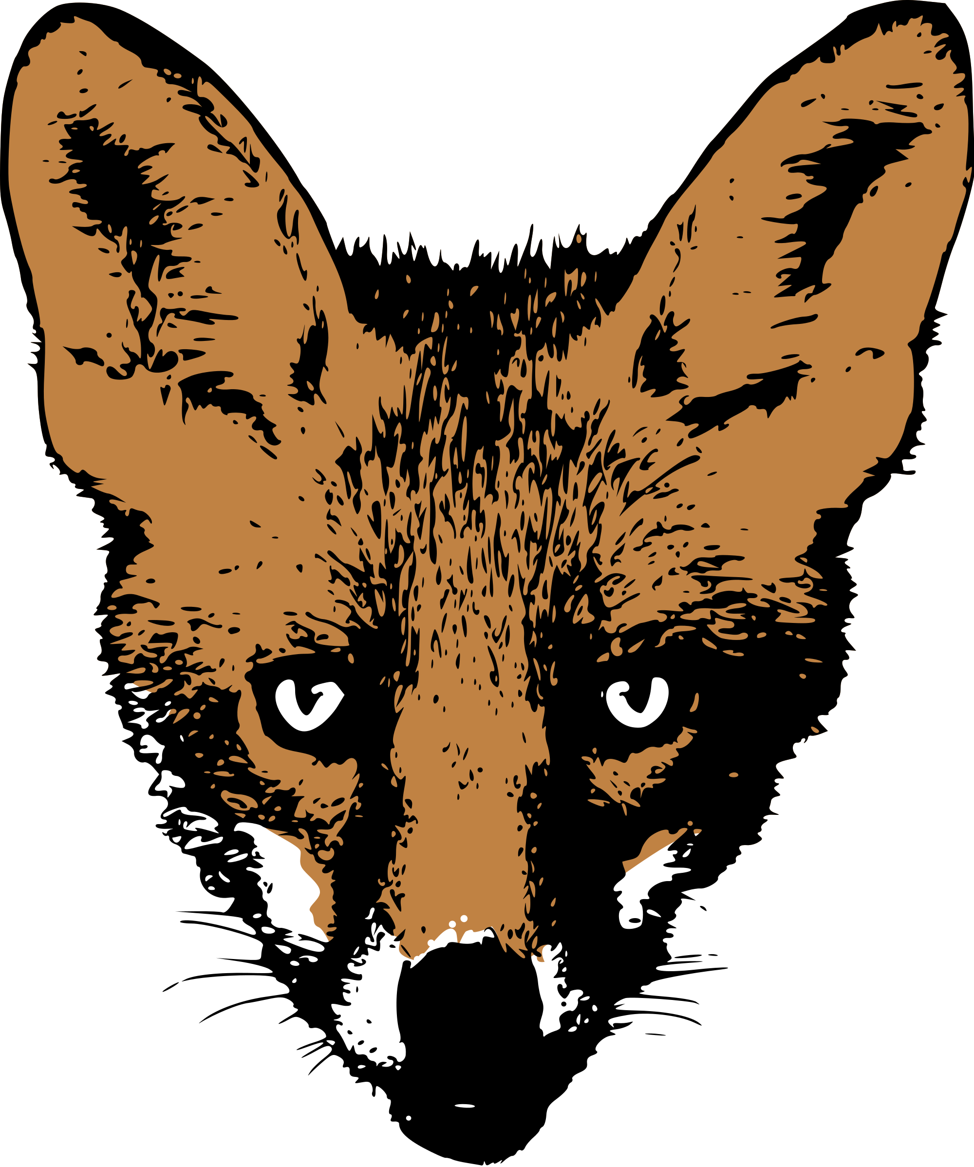 Fox head png. File drawing face svg
