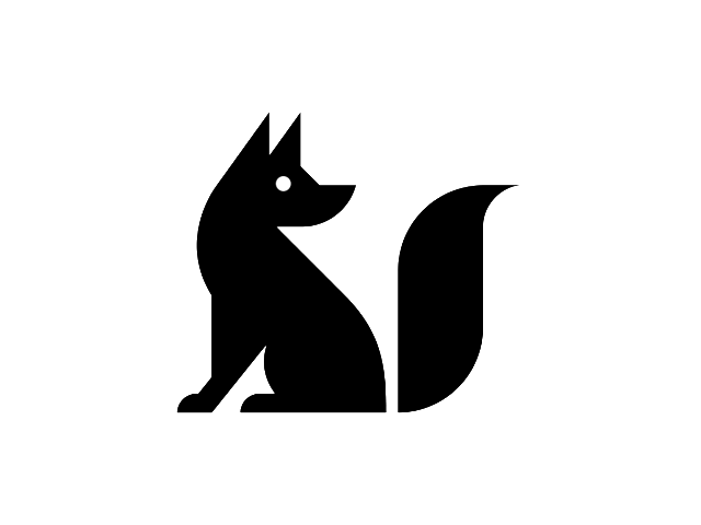 Fox logo png white. Black logok