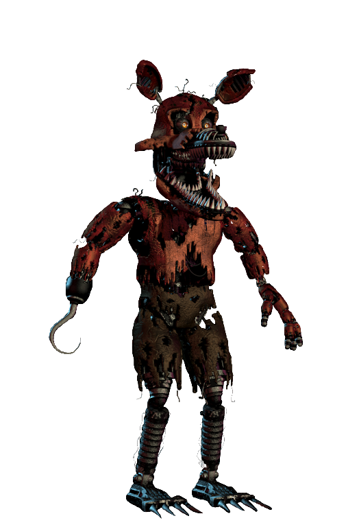 Foxy transparent nightmare. By a battery on