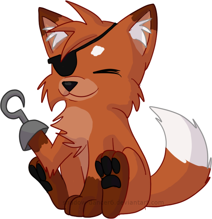 Foxy transparent adorable. The pirate by shadow
