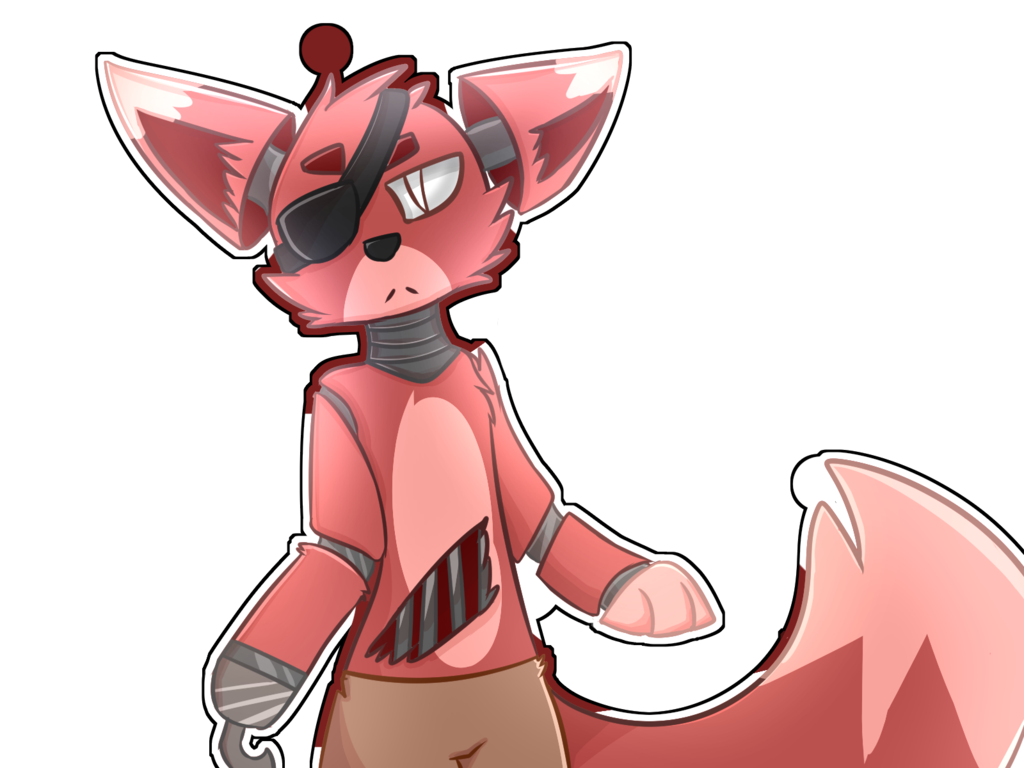 Foxy transparent anime. Fnaf by ninfiacrew on