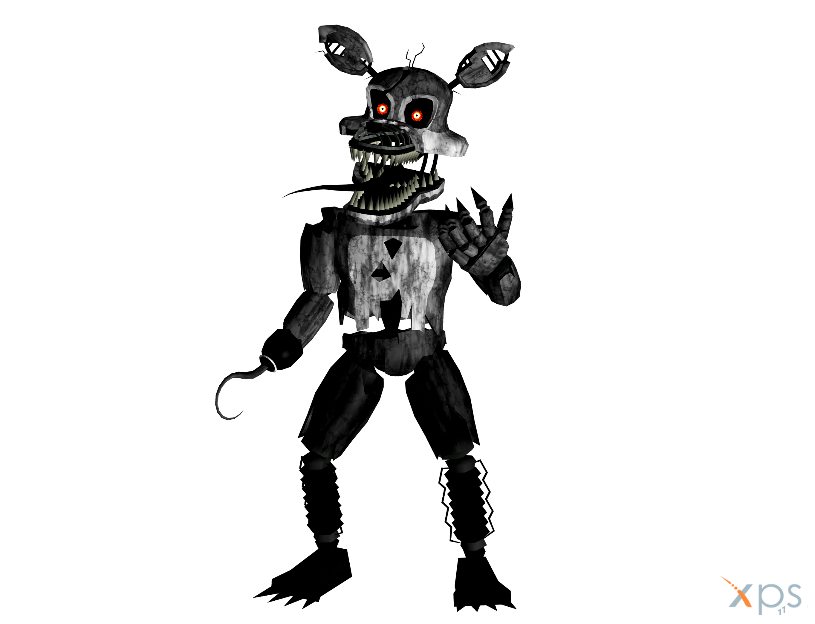 Foxy transparent dark. Download nightmare png pic