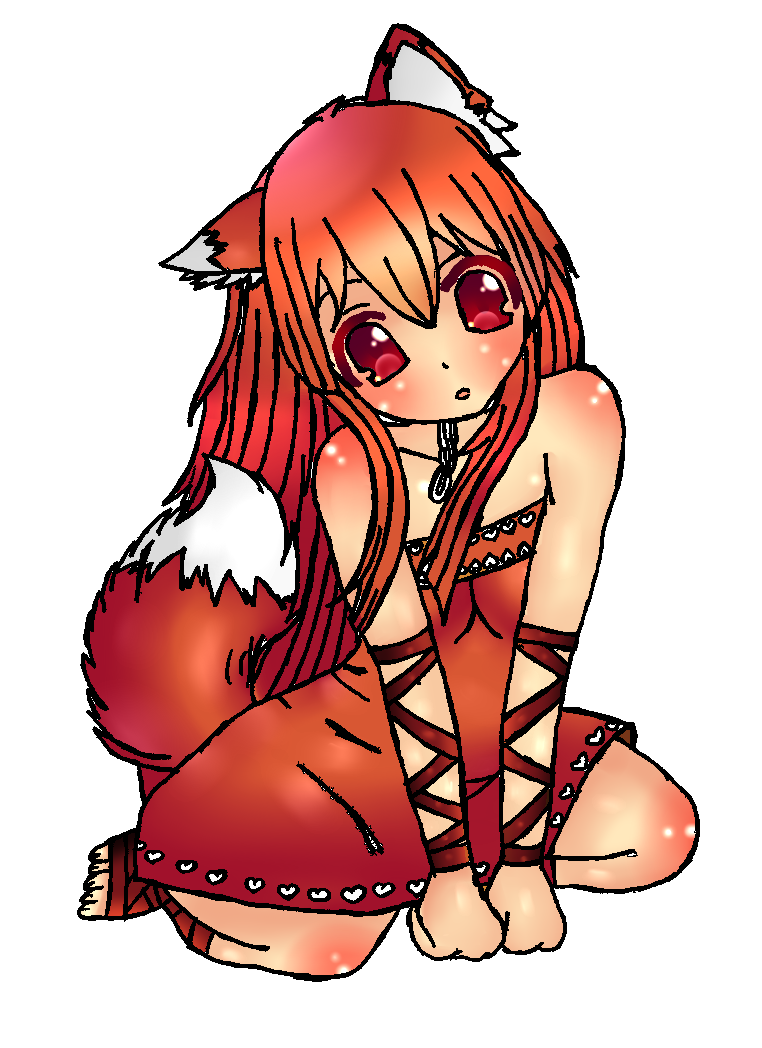 Foxy transparent female. Image fox girl png