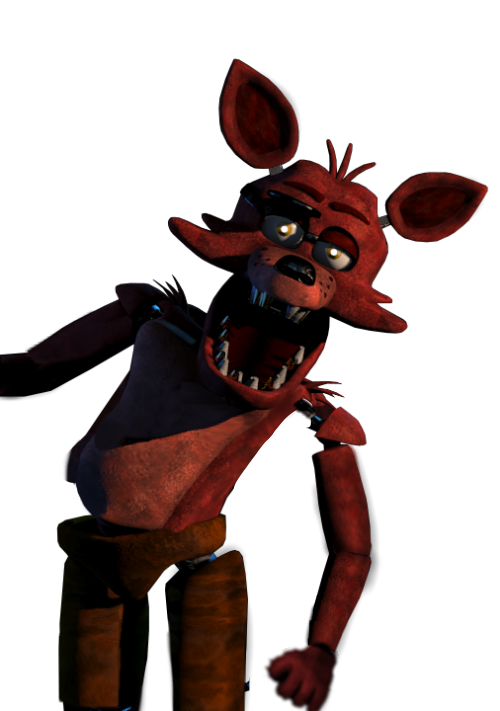 Foxy transparent fixed. Jumpscare image by