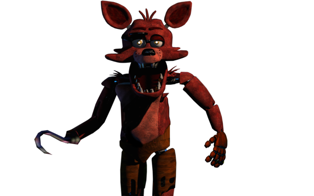 Foxy transparent fna. Un withered fnaf standing