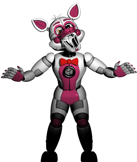 Foxy transparent funtime. I colour corrected the
