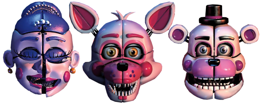 Foxy transparent funtime. Cutouts of freddy and