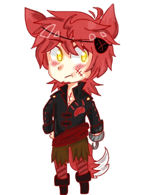 Foxy transparent human. X reader part by