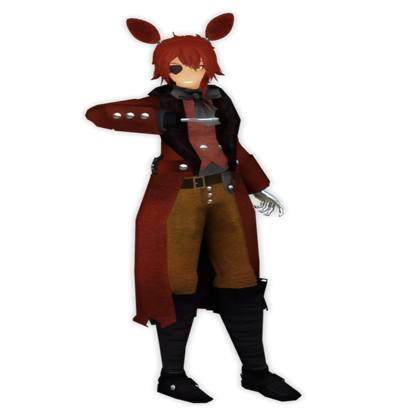 Foxy transparent human. Roblox