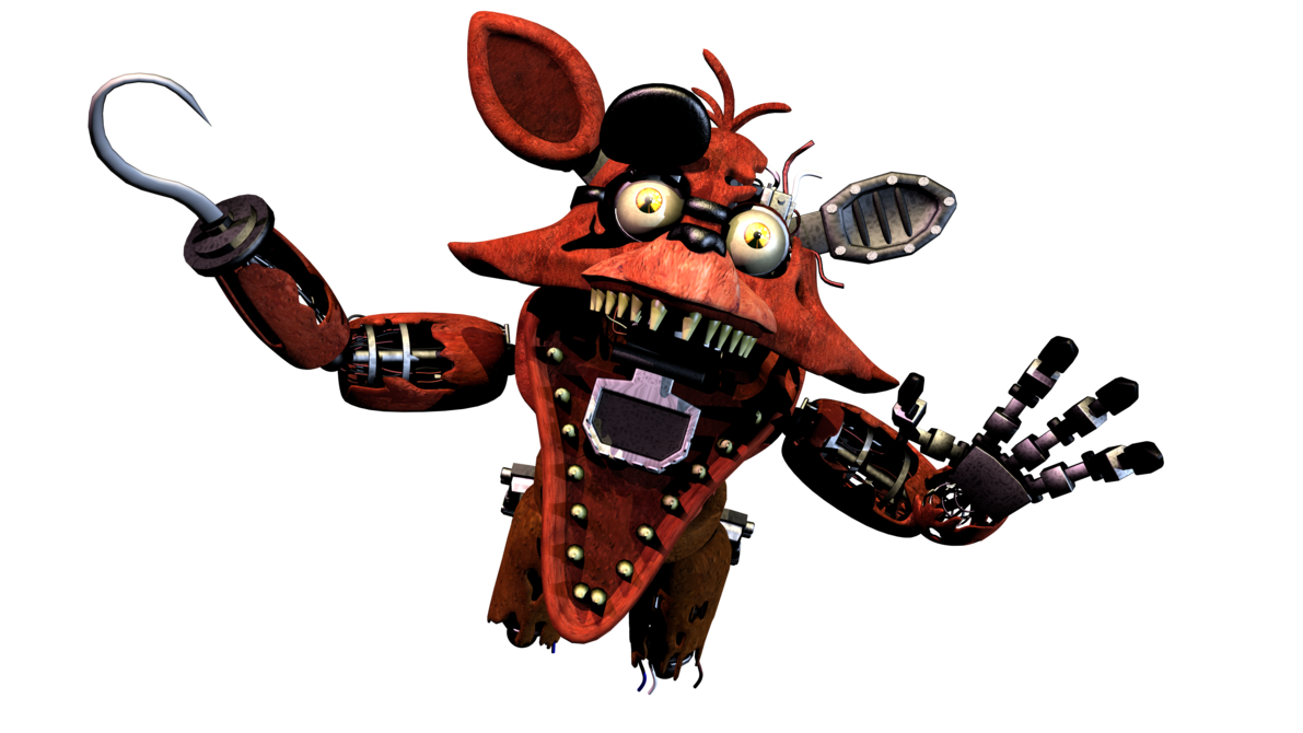 Foxy transparent jumpscare. Withered remake by andydatraginpurro
