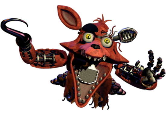 Foxy transparent jumpscare. V by yinyanggio on