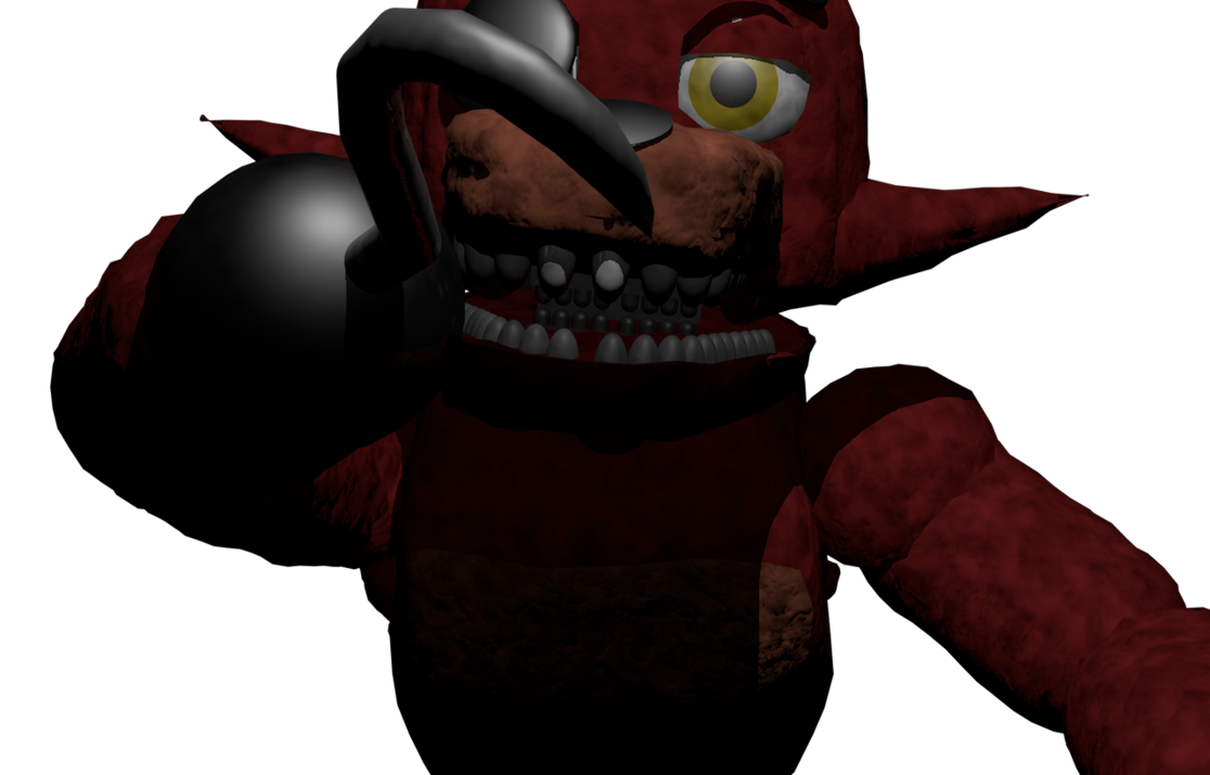 Foxy transparent jumpscare. Fnaf by anoldretiredelephant on