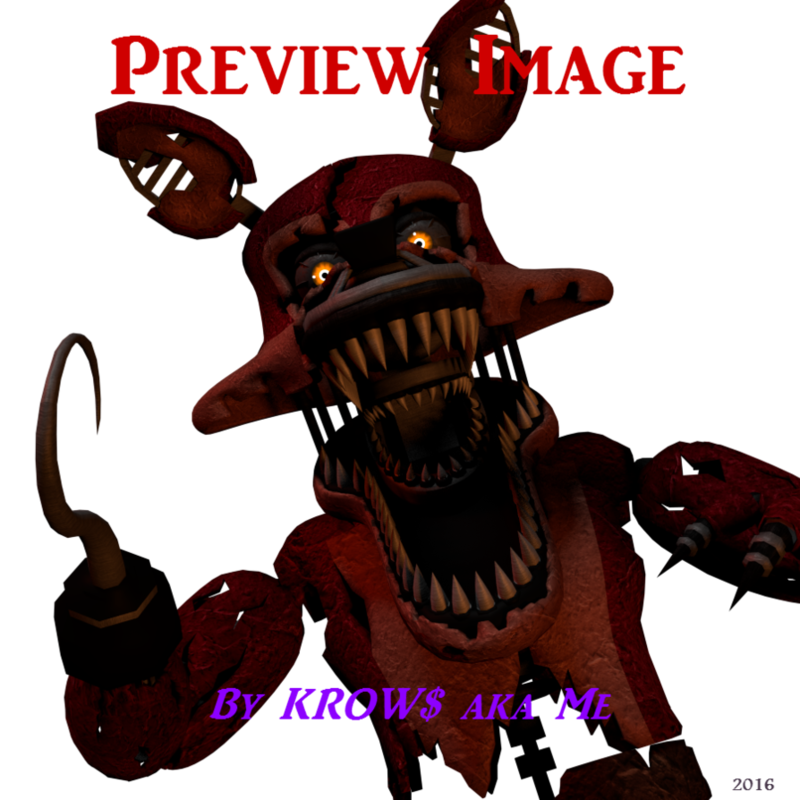 Foxy transparent nightmare. Download free png sfm