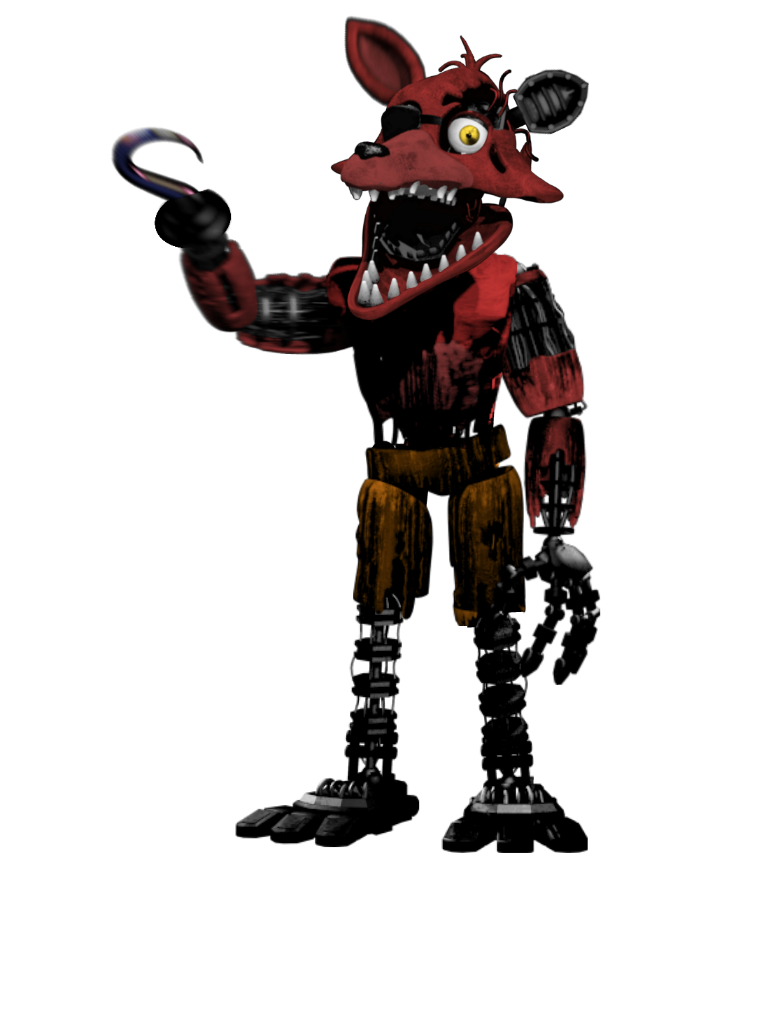 Foxy transparent normal. Withered full body fivenightsatfreddys