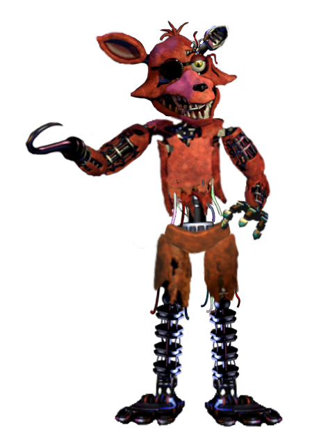 Foxy transparent normal. Withered mugshot edit by