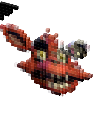 Foxy transparent old. Head cursor view on