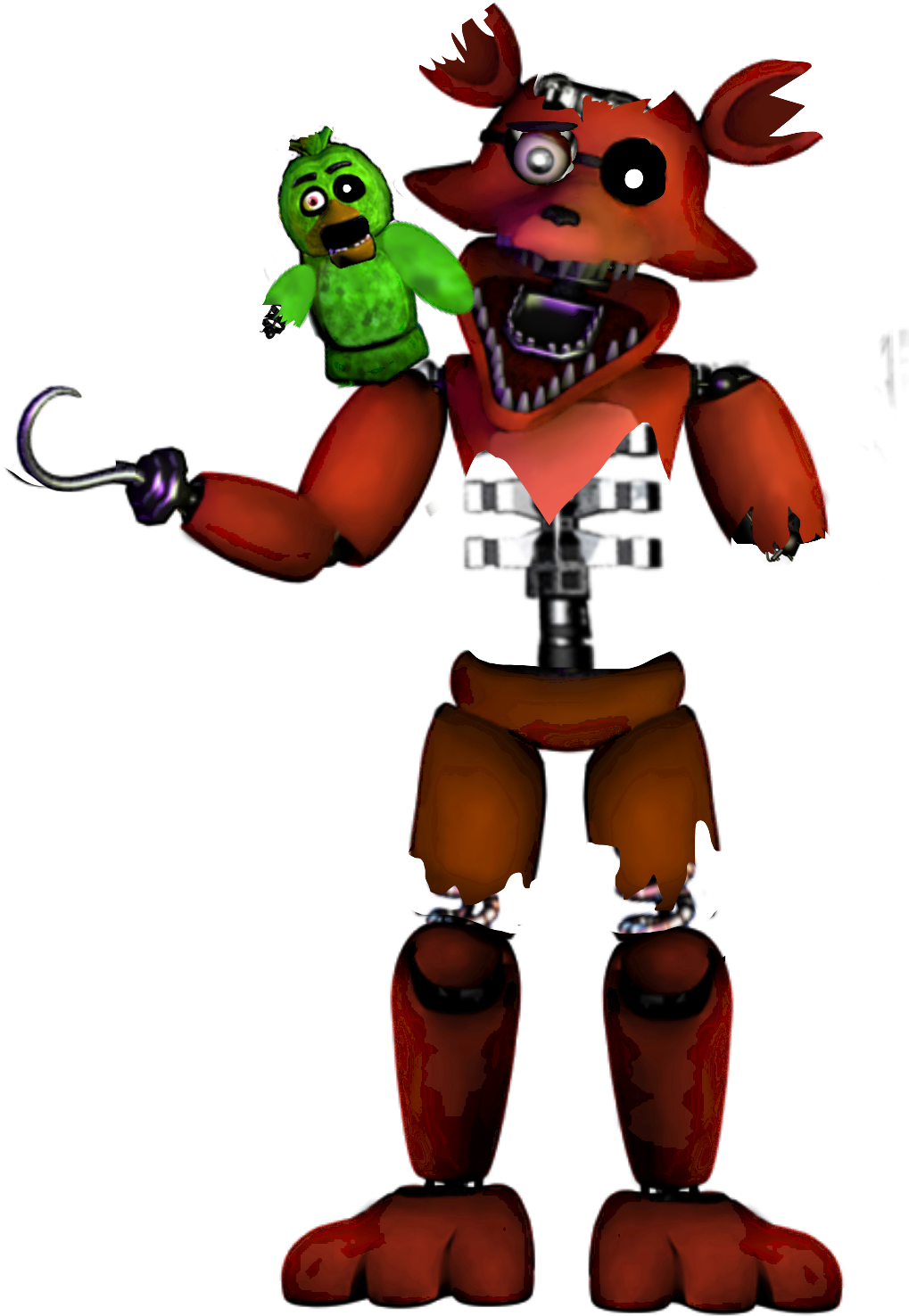 Foxy transparent withered. Download hd fnaf stylized
