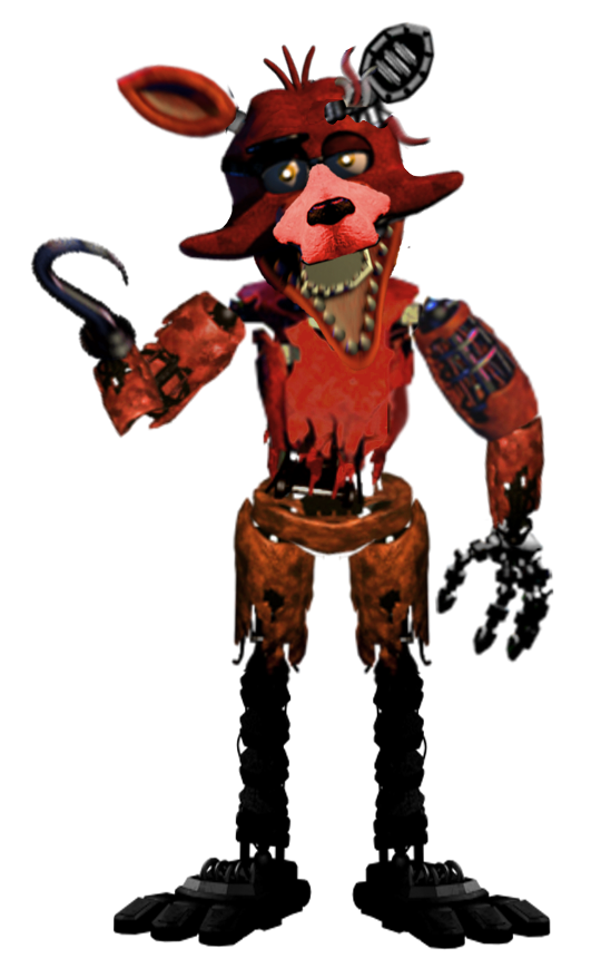 Foxy transparent withered. Image png five nights