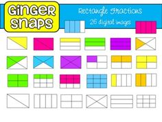 fractions clipart square