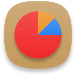 Fraction drawing pie. Chart icon myiconfinder